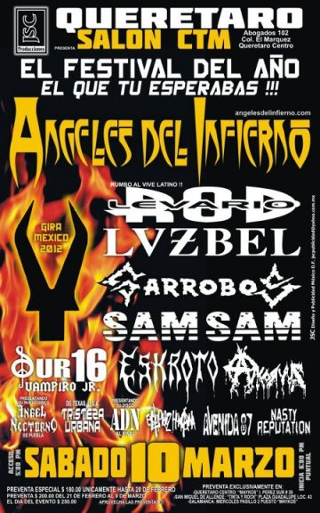 Angeles Del Inferion Rod Levario Lvzbel Garrobos Salon Ctm Queretaro Mex - rock en espa�ol - rockeros.net