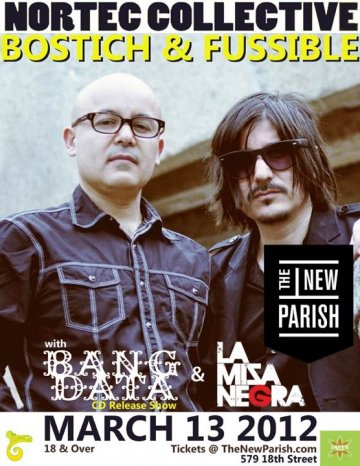 Nortec Collective Presents Bustich Mas Fussible Bang Data New Parish Oakland - rock en espa�ol - rockeros.net