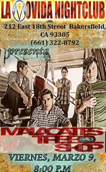 Malacates Trebol Shop En La Movida Night Club Bakersfield California - rock en espa�ol - rockeros.net