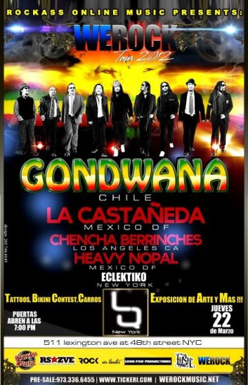 We Rock Tour 2012 Con Gondwana En Chicago Il - rock en espa�ol - rockeros.net