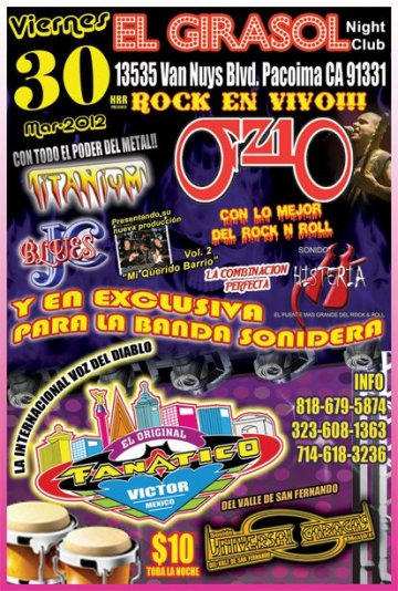 Fz10 Titanium Jc Blues Sonido Histeria En El Girasol Night Club Pacoima - rock en espa�ol - rockeros.net