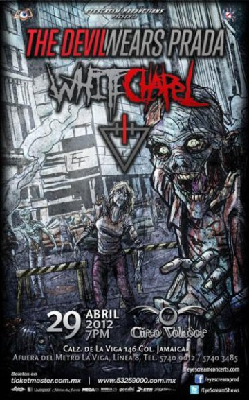 The Devil Wears Prada Y White Chapel En El Circo Volador De La Ciudad De Mexico - rock en espa�ol - rockeros.net