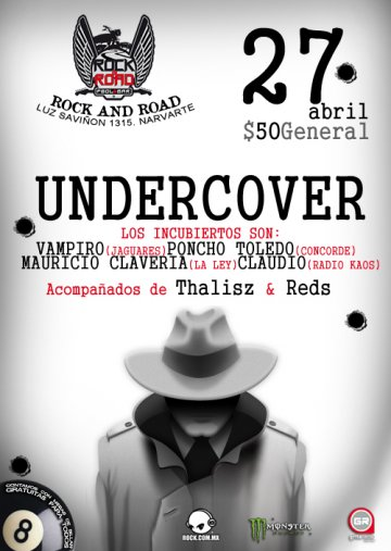 Undercover Thalisz Reds En El Rock N Road Pool And Bar Ciudad De Mexico Df - rock en espa�ol - rockeros.net