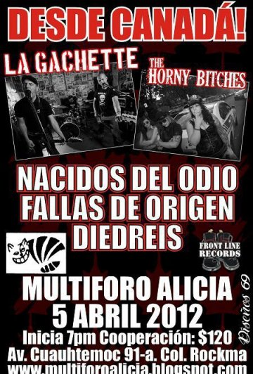Desde Canada La Gachette Y The Horny Bitches En Df - rock en espa�ol - rockeros.net