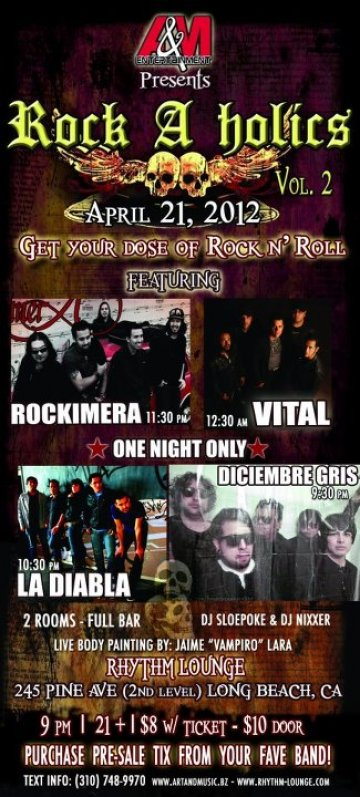 Rock A Holics Vol 2 En Long Beach Ca - rock en espa�ol - rockeros.net
