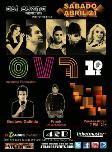 Ov7 Gustavo Galindo Frank En El 4th And B De San Diego California - rock en espa�ol - rockeros.net