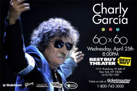 Charly Garcia En El Best Buy Theatre De Nueva York Ny - rock en espa�ol - rockeros.net