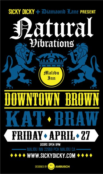 Natural Vibrations Downtown Brown Kat Braw En El Malibu Inn Malibu Ca - rock en español - rockeros.net