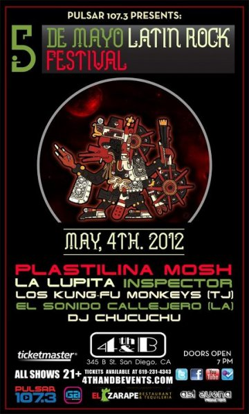 Cinco De Mayo Latin Rock Festival Plastilina Mosh La Lupita 4th And B San Diego - rock en espa�ol - rockeros.net