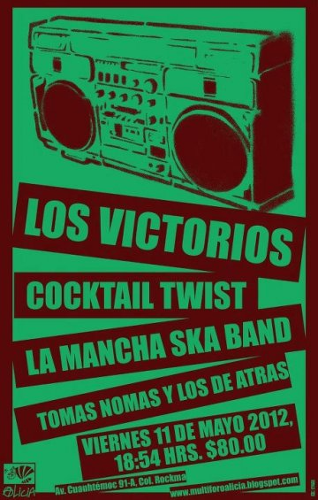 Los Victorios Cocktail Twist La Mancha Ska Band En El Foro Alicia Mexico Df - rock en espa�ol - rockeros.net