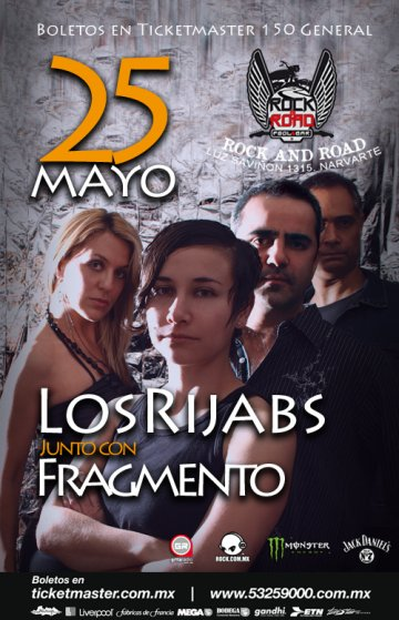 Los Rijabs Y Fragmento En El Rock And Road Mexico Df - rock en espa�ol - rockeros.net
