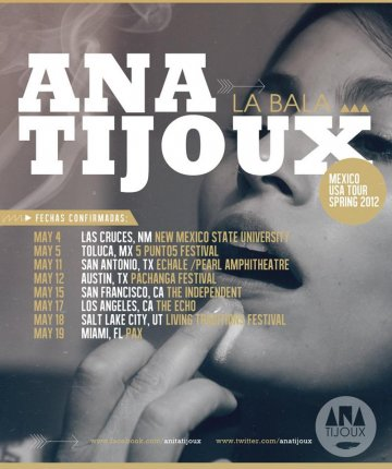 Ana Tijoux La Bala Tour 2012 En The Echo De Los Angeles California - rock en espa�ol - rockeros.net