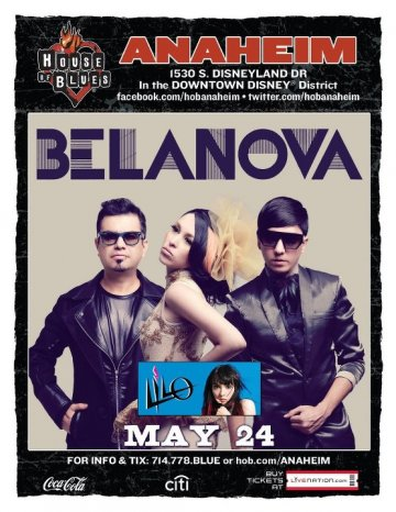 Mayo 24 Belanova Y Lilo En El House Of Blues Anaheim Ca - rock en espa�ol - rockeros.net