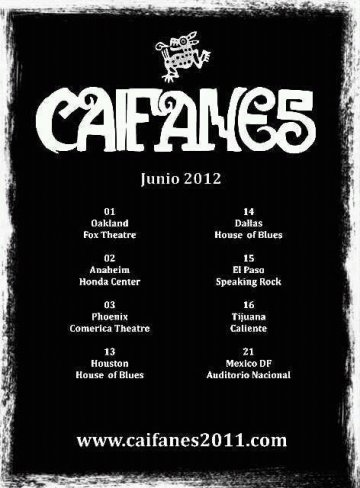 Caifanes Tour 2012 En El Fox Theatre De Oakland California - rock en español - rockeros.net