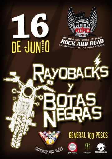 Rayobacks Y Botas Negras En El Rock And Road Mexico Df - rock en espa�ol - rockeros.net