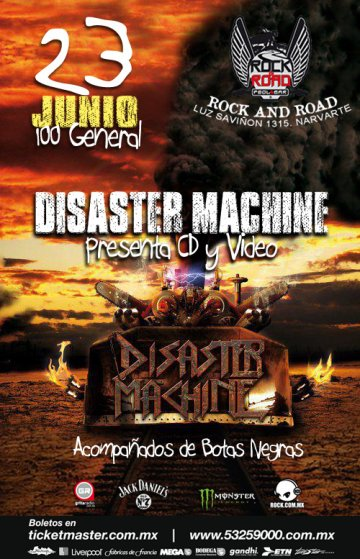 Presentacion Video Y Cd Disaster Machine En El Rock And Road Mexico Df - rock en espa�ol - rockeros.net