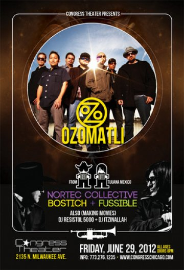 Ozomatli Nortec Collective Bostich Mas Fussible Congress Theatre Chicago Ill - rock en espa�ol - rockeros.net