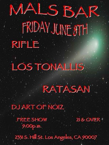 Rifle Los Tonallis Ratasan En El Mals Bar De Los Angeles California - rock en espa�ol - rockeros.net