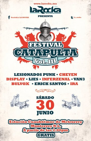 Festival Catapulta Vol 3 Lesionados Punk Cheyen Display Estacion Cuauthemoc - rock en espa�ol - rockeros.net
