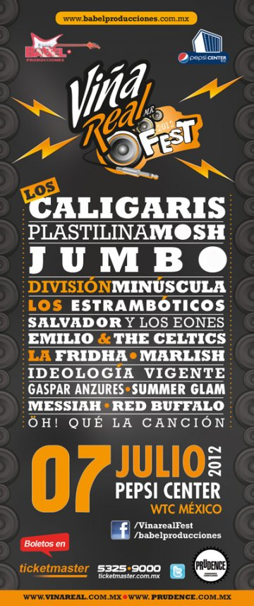Vi�a Real Fest 2012 Los Caligaris Plastilina Mosh Jumbo Pepsi Center Mexico Df - rock en espa�ol - rockeros.net