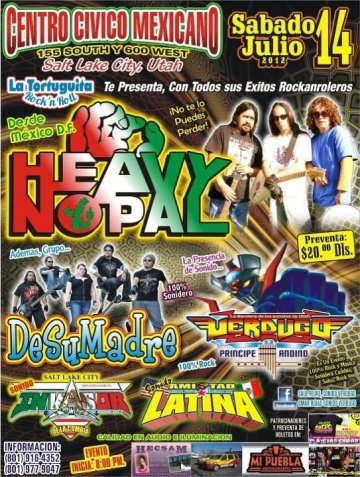 Heavy Nopal Desumadre Verdugo En Salt Lake City Utah - rock en espa�ol - rockeros.net