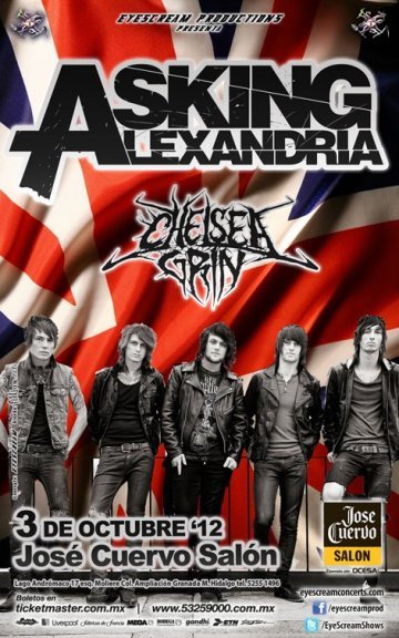 Asking Alexandria Y Chelsea Grin En El Salon Jose Cuervo Mexico Df - rock en espa�ol - rockeros.net