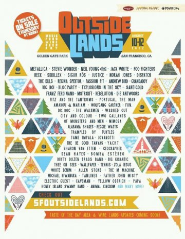 Outside Lands Agosto 10 Al 12 En San Francisco Ca - rock en español - rockeros.net