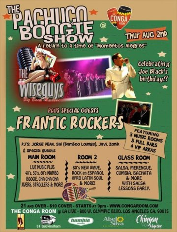 Pachuco Boggie Show Con The Wiseguys Y Frantic Rockers Conga Room Los Angeles - rock en espa�ol - rockeros.net