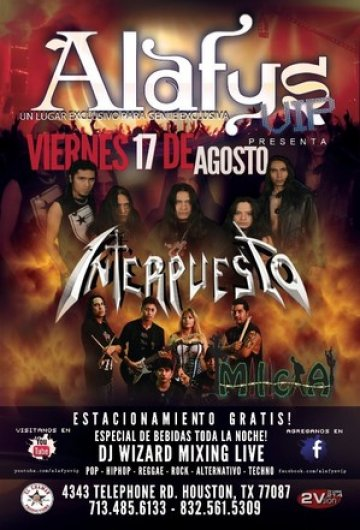 Interpuesto En Alafys Houston Texas - rock en español - rockeros.net