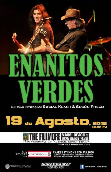 Enanitos Verdes Social Klash Y Segun Freud En Miami Beach Fl - rock en espa�ol - rockeros.net