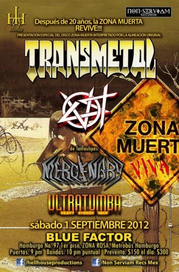 Transmetal Mercenary E Ultratumba En Blue Factor Zona Rosa Mexico - rock en espa�ol - rockeros.net