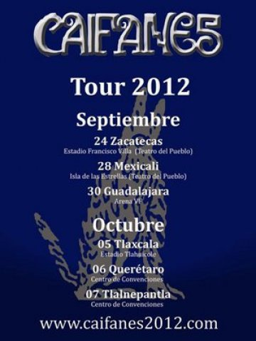 Tour 2012 Caifanes Zacarecas Mexico - rock en espa�ol - rockeros.net