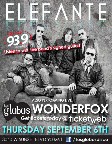 Elefante Y Wonderfox En Los Globos De Los Angeles California - rock en espa�ol - rockeros.net