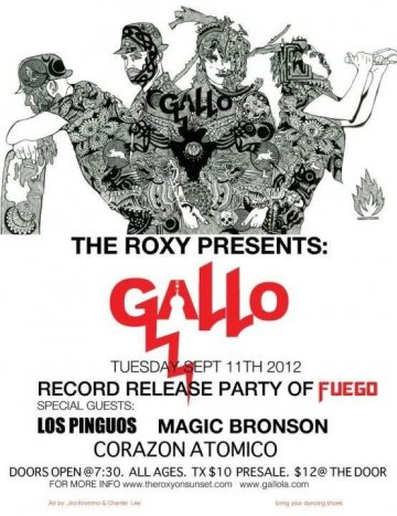 Gallo Record Release Party Con Los Pinguos Magic Bronson The Roxy Los Angeles Ca - rock en espa�ol - rockeros.net