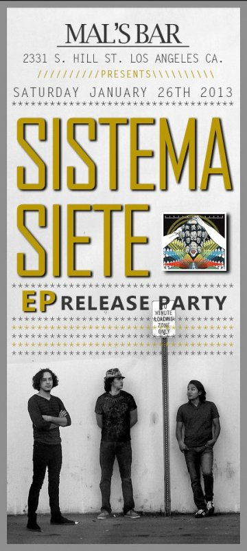 Sistema Siete Ep Release Party En El Mals Bar De Los Angeles Ca - rock en español - rockeros.net