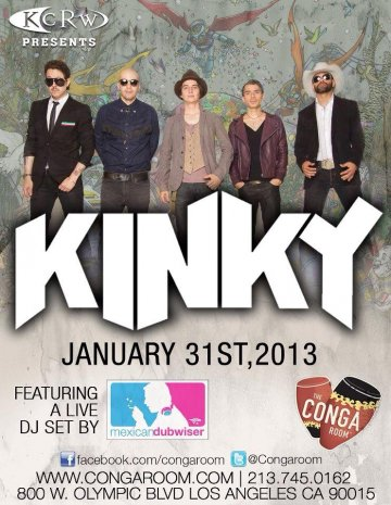 Kinky Conga Room Los Angeles - rock en español - rockeros.net