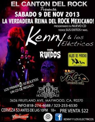 Kenny Y Los Electricos - rock en espa�ol - rockeros.net