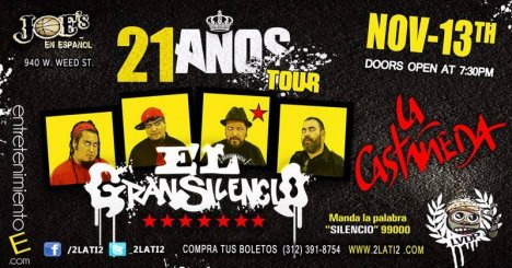 21 A�os Tour - rock en espa�ol - rockeros.net