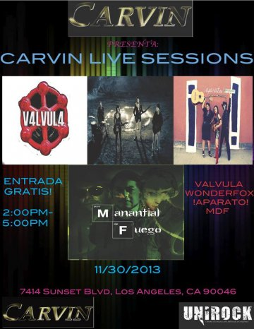 Carvin Live Sessions - rock en español - rockeros.net