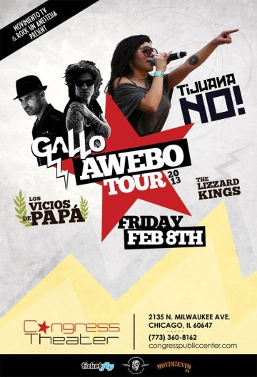 Awebo Tour Tijuana No Los Vicios De Papa The Lizzard King Gallo Congress Theater - rock en espa�ol - rockeros.net