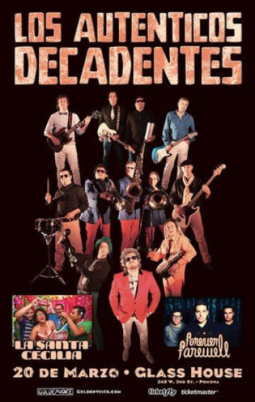 Los Autenticos Decadentes La Santa Cecilia En The Glass House Pomona Ca - rock en espa�ol - rockeros.net
