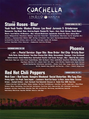 Coachella The Airborne Toxic Event Red Hot Chili Peppers Indio California - rock en español - rockeros.net