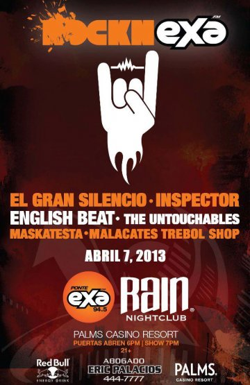 El Gran Silencio Inspector English Beat Untouchables Ram Night Club Las Vegas Nv - rock en espa�ol - rockeros.net