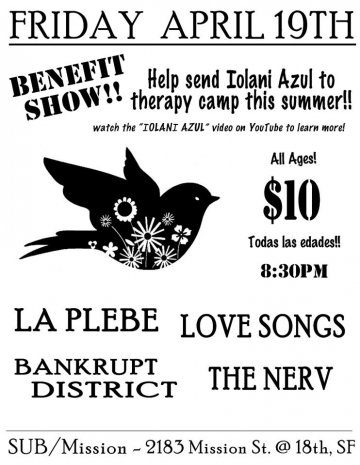 Benefit Show Con La Plebe Love Songs Bankrupt District Submission San Francisco - rock en espa�ol - rockeros.net