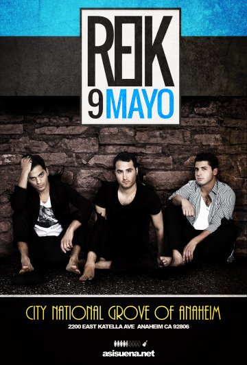 Reik En El City National Groove Of Anaheim California - rock en espa�ol - rockeros.net