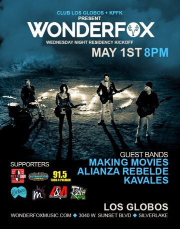 Wondefox Making Movies Alianza Rebelde Kavales En Los Globos De Los Angeles Ca - rock en espa�ol - rockeros.net