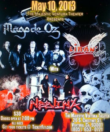 The Majestic Ventura Theater Mago De Oz Liran Roll Neblina - rock en español - rockeros.net