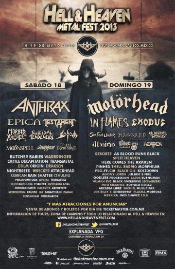Hell And Heaven Metal Fest Anthrax Epica Testament Suicidal Tenders - rock en espa�ol - rockeros.net