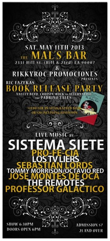 Ric Fazekas Release Party Sistema 7 Profecia Mals Bar Los Angeles - rock en espa�ol - rockeros.net