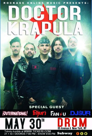 Doctor Krapula Outernational Eljuri Fansu Droom New York Ny - rock en espa�ol - rockeros.net